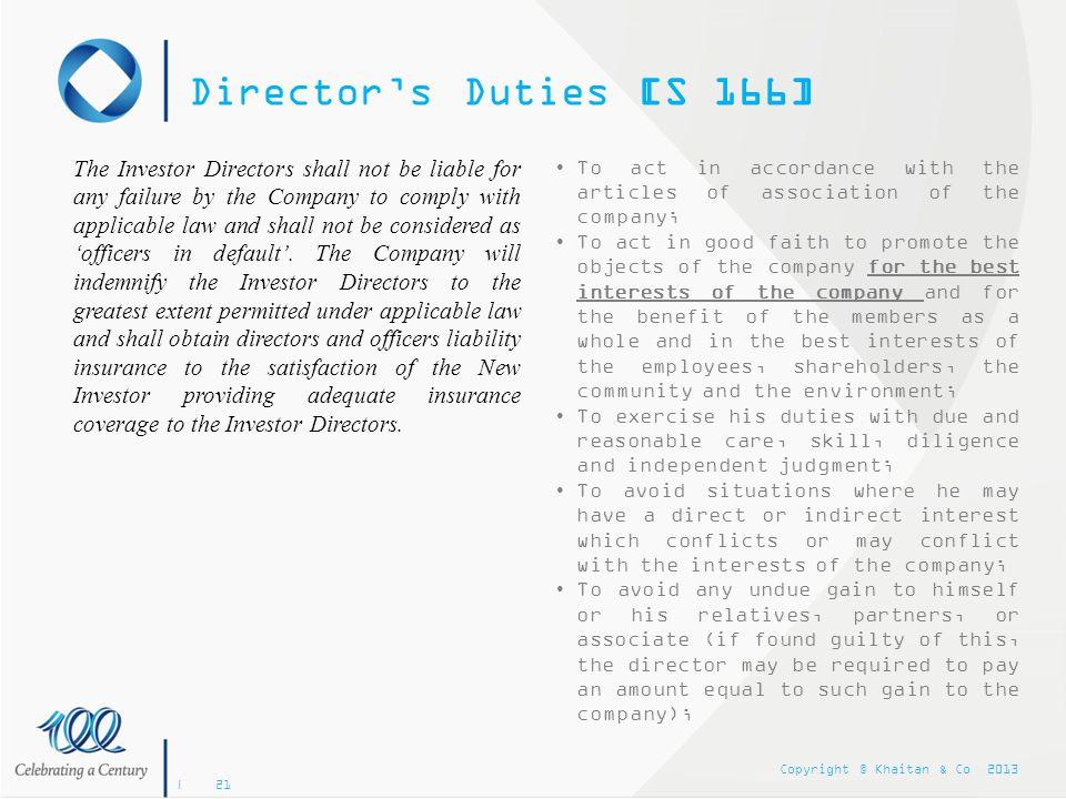 Director's Duties [S 166]